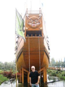 réplica de la nave