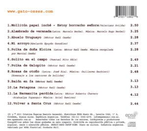 patagonia, adn. Lista de canciones